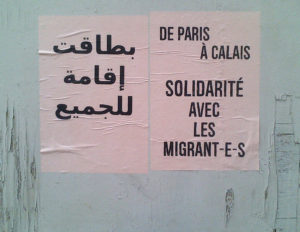 Affiche dans les rues du 18e arrondissement de Paris, juillet 2015. © Rafael Flichman
